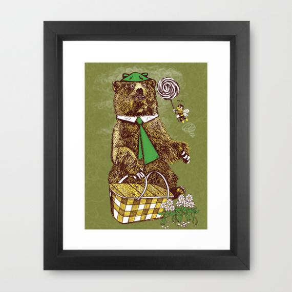 quadro orso yoghi