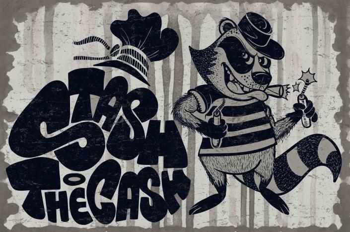stash the cash con calligramma street wear urban design illustration graffiti lettering