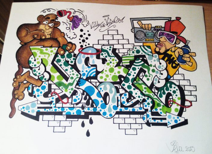 sketch mr vela illustrazioni graffiti roma