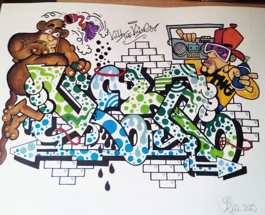 vela sketchism - graffiti sketch roma