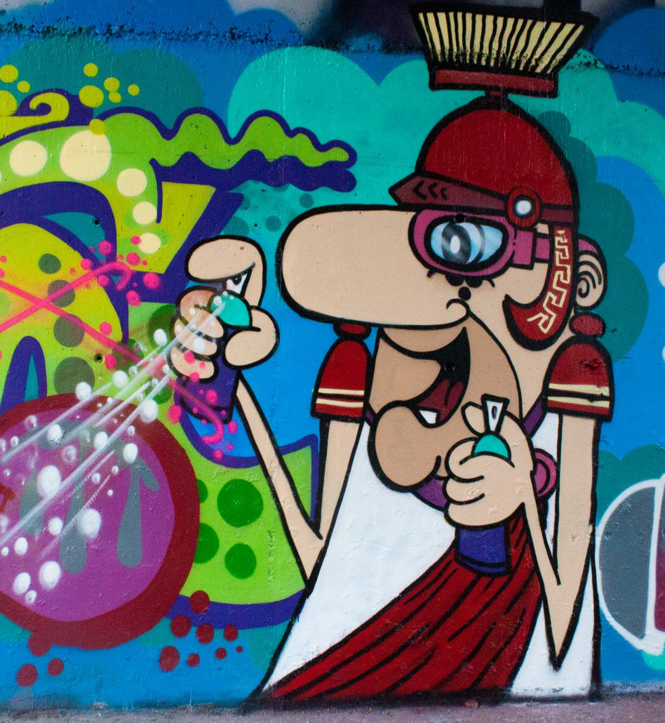 graffito antico romano con spray