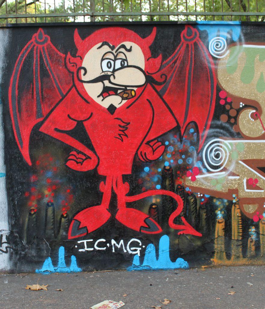 devil personaggio murale