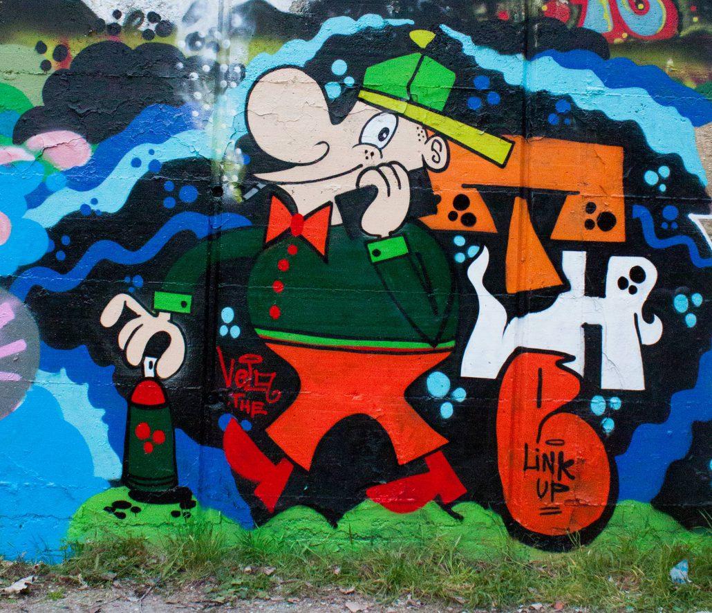 meet up graffito su muro