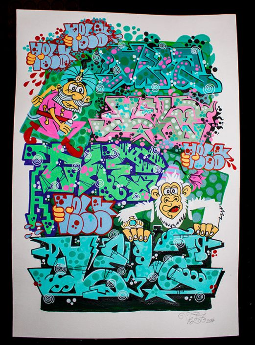 poster graffiti e scimmia web