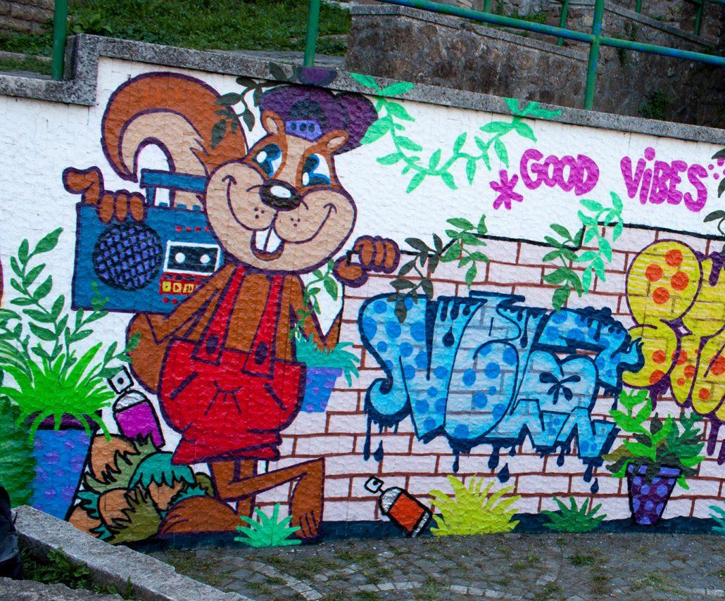 scoiattolo murales