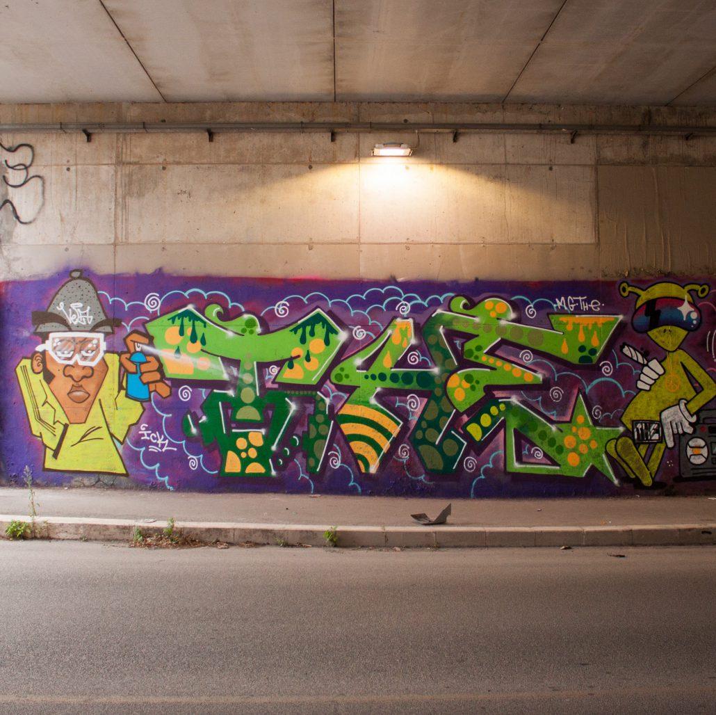 the crew graffiti characters