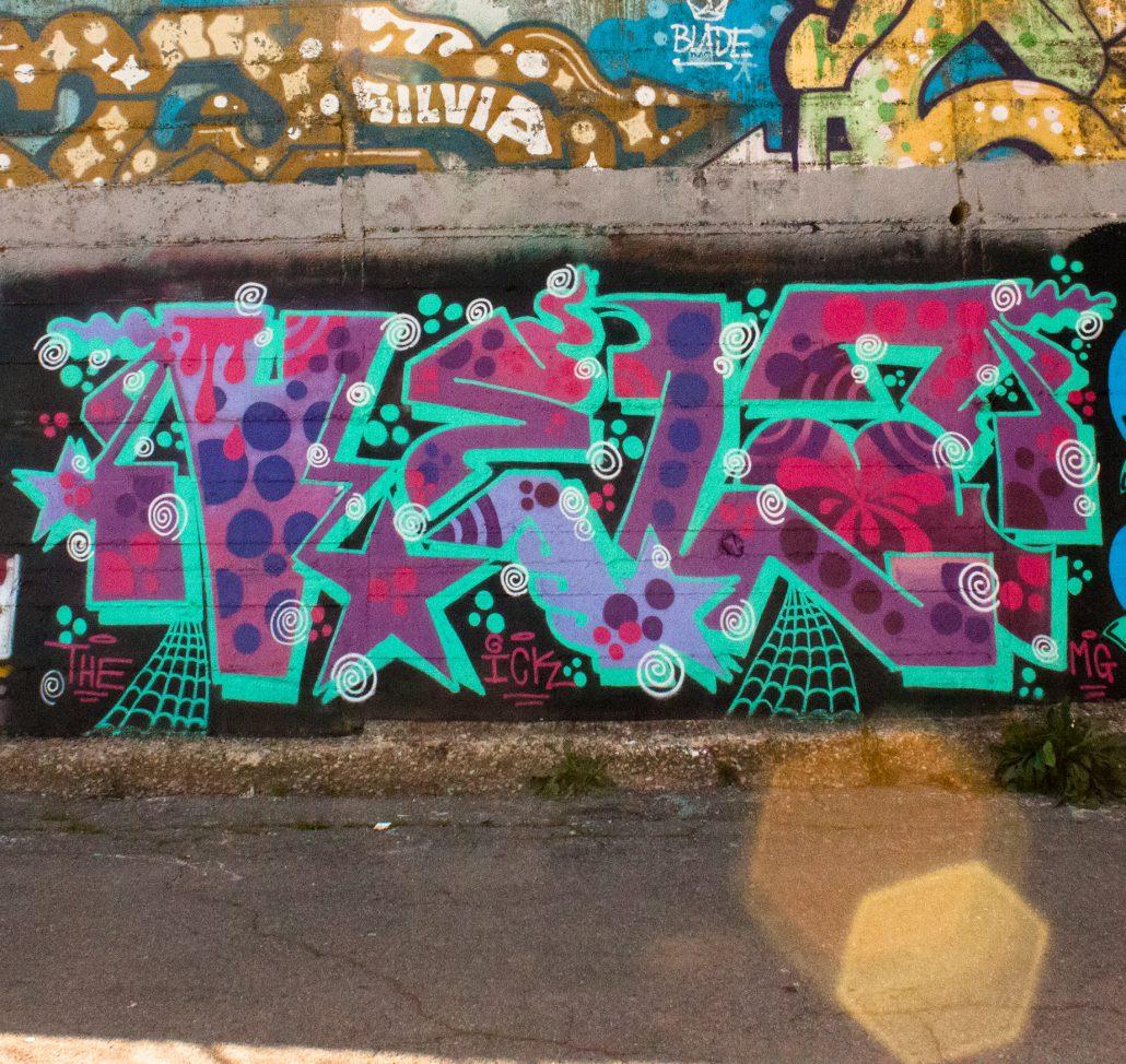vela graffito in negativo
