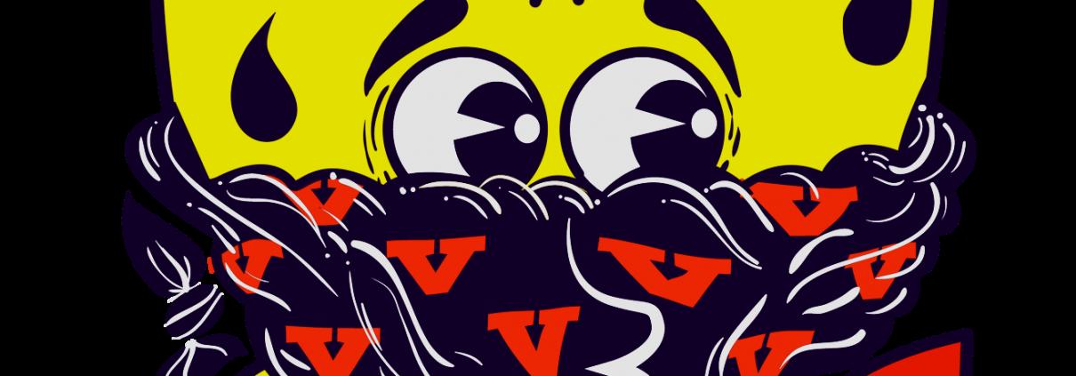 mr vela logo disegno graffiti a volto coperto con bandana