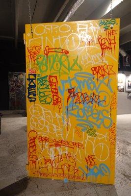 tagged door yellow
