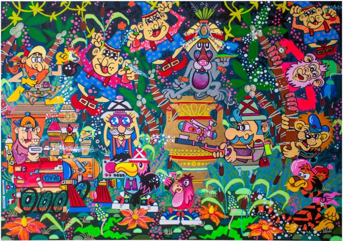 quadro dipinto tropicale