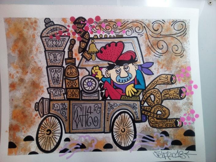 vecchio treno mrvela illustrazione